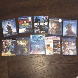 20 Blue Ray DVDs new in plastic Fathers Day